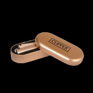 1 x Original Clipper Rose Gold Metall Feuerzeug