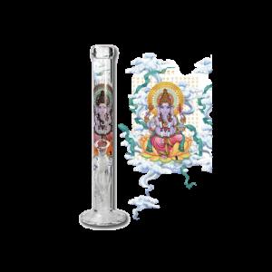 Back Leaf Ganesha Rising Glasbong