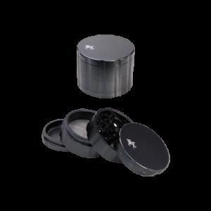 Black Leaf Aluminium Grinder 4-tlg. schwarz