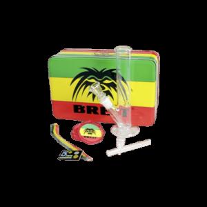 Breit Bong-Koffer Mini-Set mit Grinder und Glaskawumm
