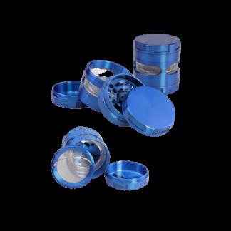 Metallgrinder 4-tlg. blau Black Leaf