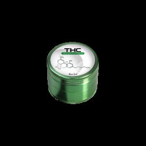THC Grinder Black Leaf 4-teilig 50mm