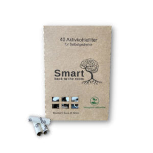 Smartfilters Aktivkohlefilter – 40 Aktivkohlefilter 8mm