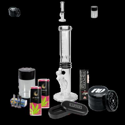 QueenSizeBox CLEAR mit einer Blaze Glass Icebong und NV Grinder