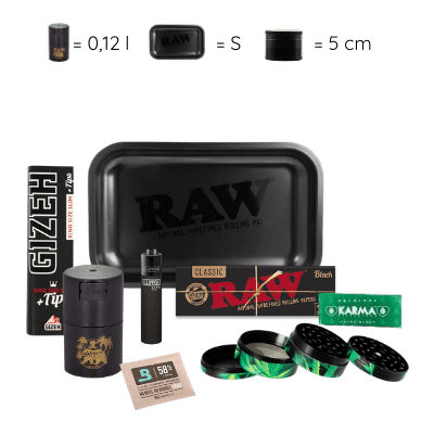 Black Box - RAW Rolling Tray Box schwarz