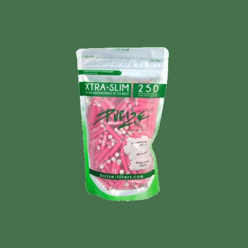 250 Purize Aktivkohlefilter PINK XTRA Slim Size – ø 5,9 mm