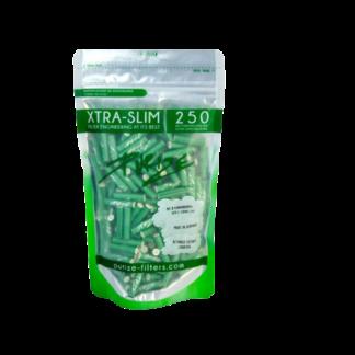 250 Purize Aktivkohlefilter Green XTRA Slim Size - ø 5,9 mm