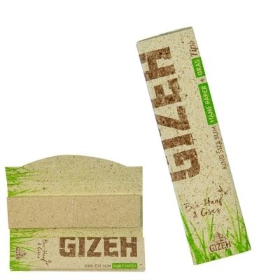 Gizeh Hanf & Gras King Size Slim Papers & Tips