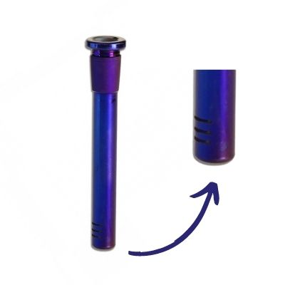 Schlitzdiffusorchillum Regenbogeneffekt blau lila