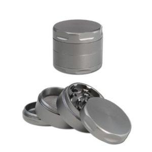 Aluminium Grinder grau/silber 4-tlg.